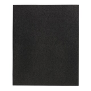 School Smart 2-Pocket Folders, Black, Pack of 25