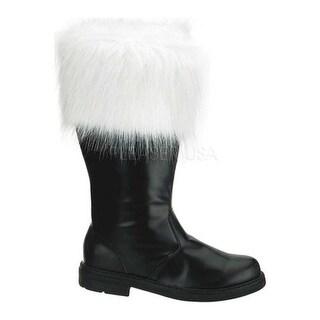Funtasma Men's Santa 100 Black PU/Faux Fur
