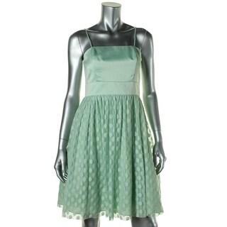 Eliza J Womens Polka Dot Prom Semi-Formal Dress