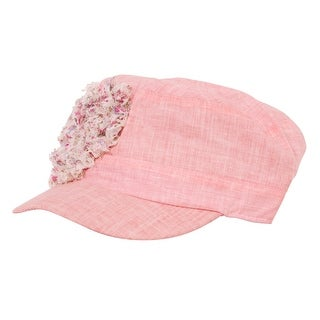 Kids Cute Flower Heart DY Colored Hat - light pink