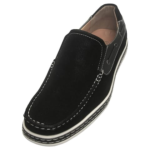 Sedagatti Casual Side-Lace Slip-On Boat Shoes
