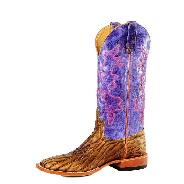 Horse Power Western Boots Mens Dirty Sasquatch Brown Purple