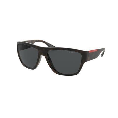 Prada Linea Rossa PS 08VS 56406F 59 Matte Havana Man Pillow Sunglasses