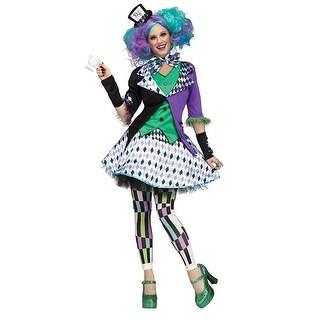 Womens Mad Hatter Purple Halloween Costume