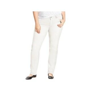 Levi's Womens Plus 414 Straight Leg Jeans Comfort Mid-Rise