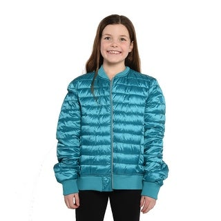 Save The Duck Lightweight Women's Bomber In Turquoise