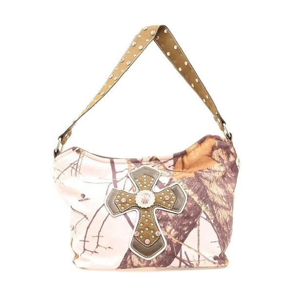 Nocona Western Handbag Womens Hobo Cross Pink Camo N7519030 - Pink Camo - One size