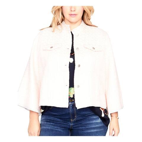 Rachel Rachel Roy Womens Crop Blazer Long Sleeves Professional - 2X