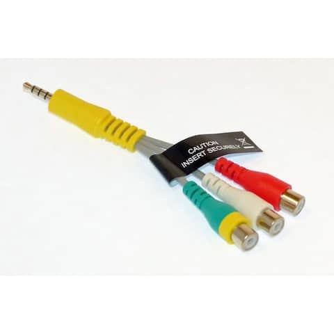 NEW OEM Samsung Audio Video AV Cable Originally Shipped With UN50KU630DF, UN50KU630DFXZA, UN55MU6300F, UN55MU6300FXZA