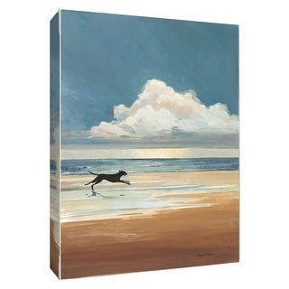 """PTM Images 9-154745  PTM Canvas Collection 10"""" x 8"""" - """"Low Tide"""" Giclee Dogs Art Print on Canvas"""