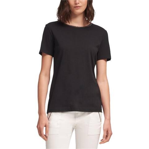 Dkny Womens Beaded Embellished T-Shirt