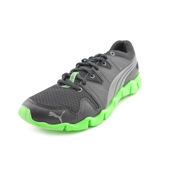 Puma Shintai Runner Men Black-Aged Silver-Green Running Shoes