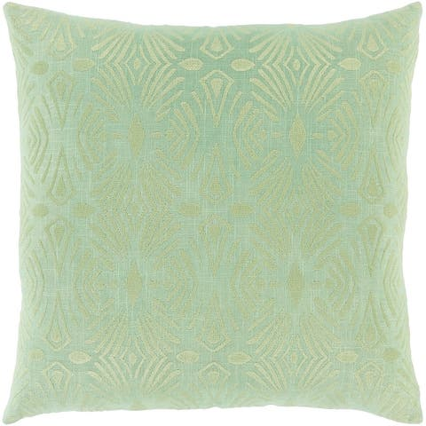 Akilah Art Deco Embroidered Throw Pillow