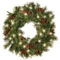 "Celebrations HYD-4K17BC30TRY Prelit Cordless LED Ornamental Wreath, 30"" Dia. - Thumbnail 0"