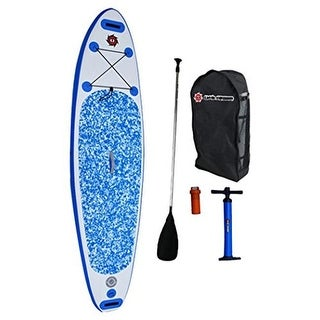10 ft. Inflatable Stand Up Paddleboard Package - Sky Blue, 6 in.