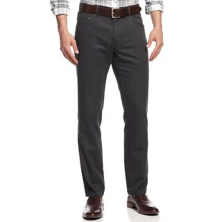 INC International Concepts Milan Slim Fit Twill Pants Charcoal 33 x 32