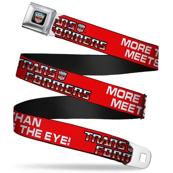 Transformers Autobot Logo Full Color Black Blue Red Fade Autobot The Seatbelt Belt