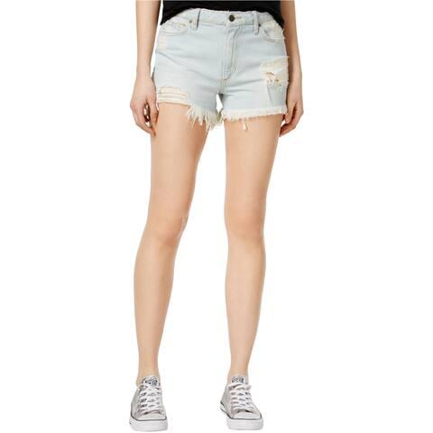 Joe's Womens Charlie Cotton Ripped Casual Denim Shorts