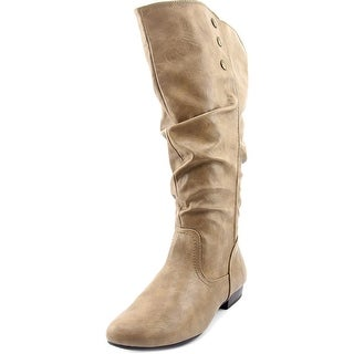 White Mountain Fun House Wide Calf Women Round Toe Synthetic Tan Knee High Boot