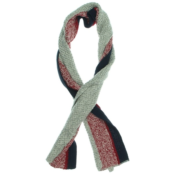 Shop Tommy Hilfiger Winter Scarf Cable Knit Striped O S Free