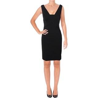 Lauren Ralph Lauren Womens Abbiana Cocktail Dress Sleeveless Keyhole