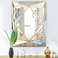Designart Copper Spruce 1 Mid Century Mirror Wall Mirror Overstock 28022171