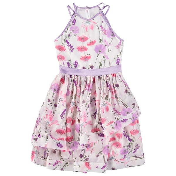 9eec0134d9d Shop Speechless Girls 7-16 Floral Tier Dress - Lavender - Free Shipping On  Orders Over $45 - Overstock - 22506329