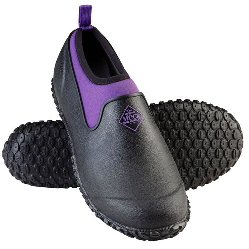 Muck Boots Black/Purple Women's Muckster II Low Shoe w/ Airmesh Lining - Size 10