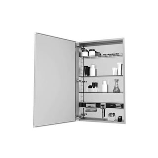 """Robern MC1640D6ABL M Series 16"""" x 40"""" x 6"""" Arched Beveled Single Door Medicine Cabinet with Left Hinge and Magnetic Organization"""
