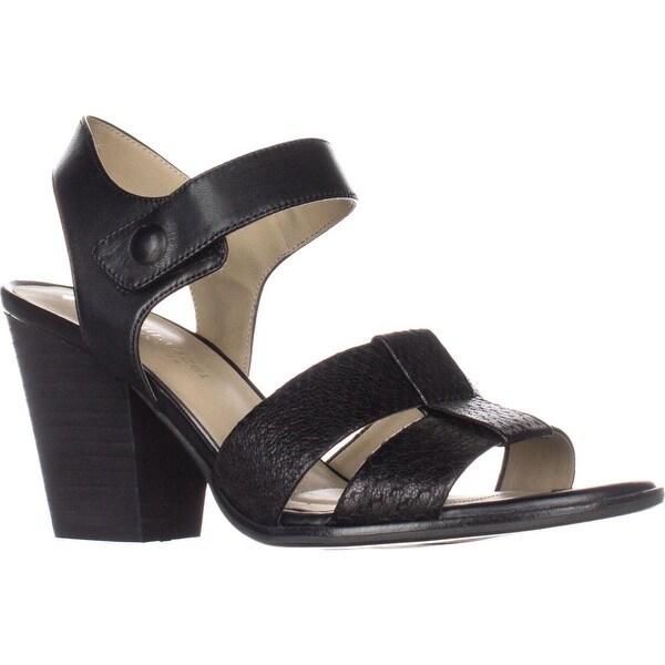 naturalizer Yolanda Comfort Sandals, Black leather - 6 w us