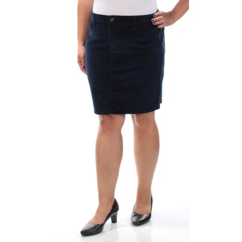 TOMMY HILFIGER Womens Navy Above The Knee Pencil Skirt Size 12