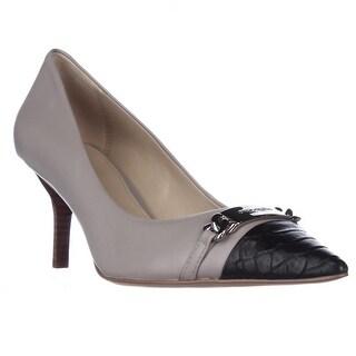 Coach Bowery Pointed Toe Dress Heels, Grey Birch/ Black - 10 us