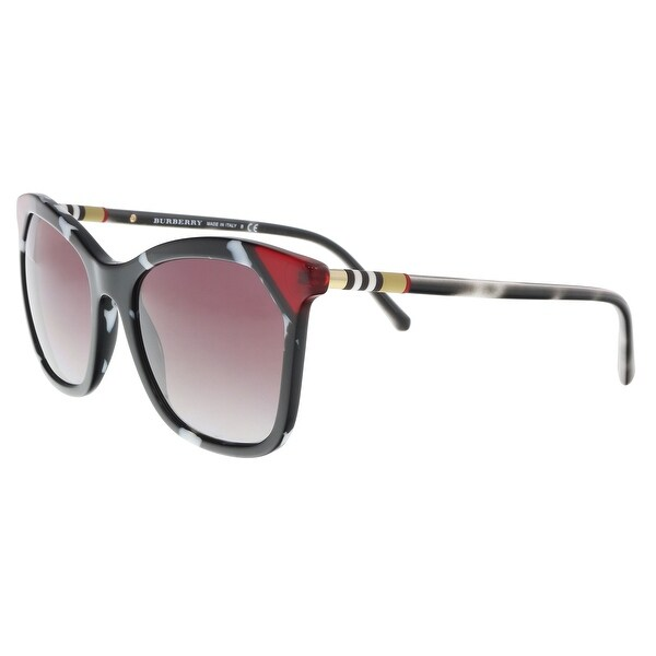 a7e4cf98f31 Burberry BE4263 370990 Black  tortoise white  red Butterfly Sunglasses -  54-19-