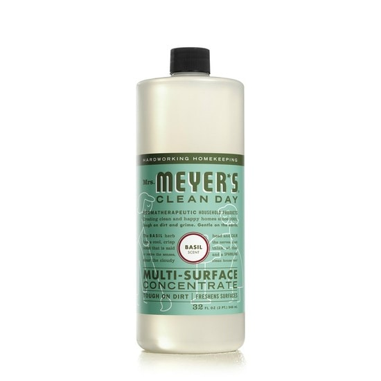 Mrs. Meyer's Clean Day 14440 Basil Multi-Surface Concentrate Cleaner, 32 Oz