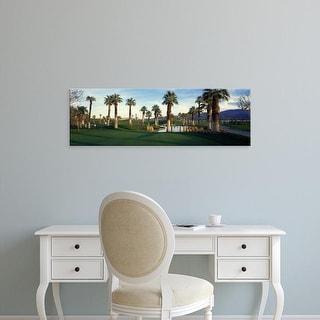 Easy Art Prints Panoramic Image 'Palm trees, Desert Springs Golf Course, Palm Springs, Riverside,California' Canvas Art