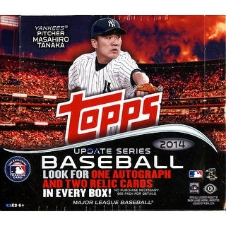 2014 Topps Update MLB Baseball Jumbo HTA Box - 1 Autographs plus 2 Relics