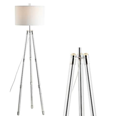 "Arliss 60"" Tripod Metal/Crystal LED Floor Lamp, Chrome by JONATHAN Y"