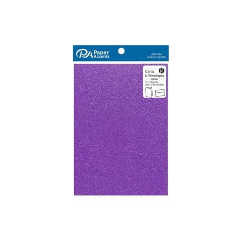 Card & Env 5x7 12pc Glitter Purple