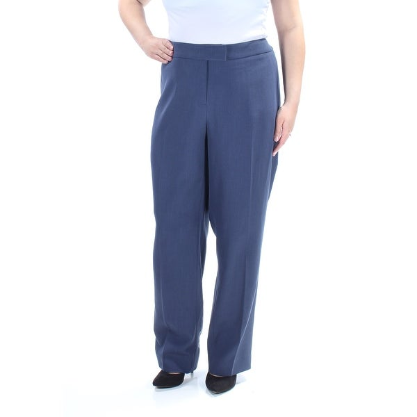 4794b513347 Shop ANNE KLEIN Womens Navy Pleated Flat Front Wear To Work Pants Plus Size   18W - Free Shipping On Orders Over  45 - Overstock - 22645422