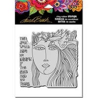 "Soul Tears - Stampendous Laurel Burch Cling Stamp 6.5""X4.5"""