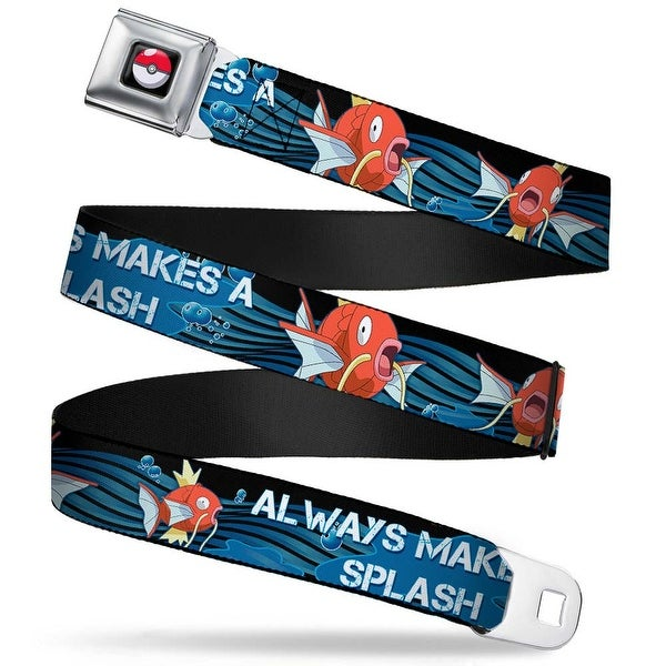 Pok Ball Full Color Black Magikarp Swimming2 Always Makes A Splash Black Seatbelt Belt
