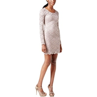 Jump Apparel Womens Juniors Party Dress Cut-out Back Sequined