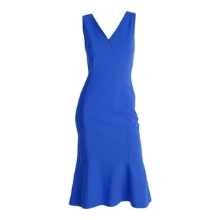 Elie Tahari Womens Katelynn Double-V Sleeveless Wear to Work Dress