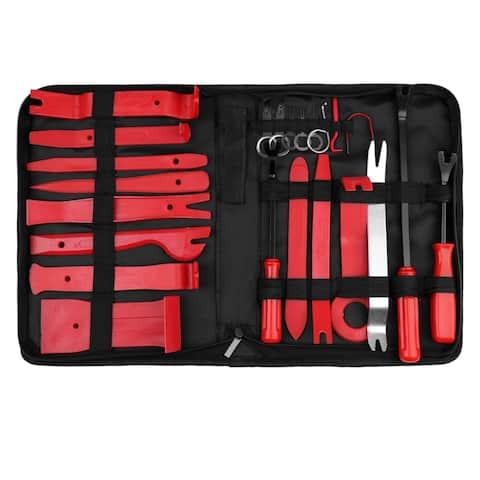 Car Trim Removal Tool Set Nylon Red Panel Dash Audio Radio Repair Kits 23 in 1