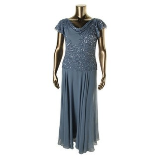 JKara Womens Evening Dress Chiffon Embellished