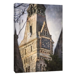 """PTM Images 9-105986  PTM Canvas Collection 10"""" x 8"""" - """"Clock Tower Georgetown University 1"""" Giclee Buildings and Landmarks Art"""