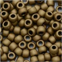 Toho Round Seed Beads 6/0 221F - Frosted Bronze (8 Grams)