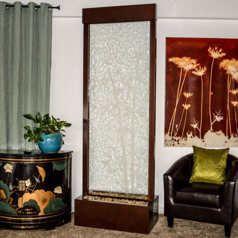 Bluworld Bamboo Etched Glass Gardenfall Fountain, 6-Foot
