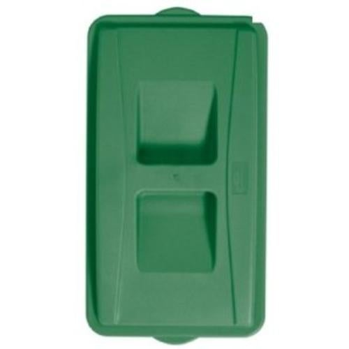 Continental Commercial 7315GN Wall Hugger Green Recycle Lid, For 8322