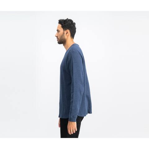 Levi's Men's Sadler Waffle-Knit Thermal Sweatshirt Blue Size 2 Extra Large